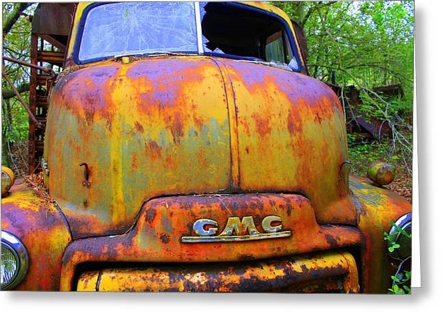 Gmc Greeting Cards - Ole Rusty Full Frontal Greeting Card by Dana  Oliver