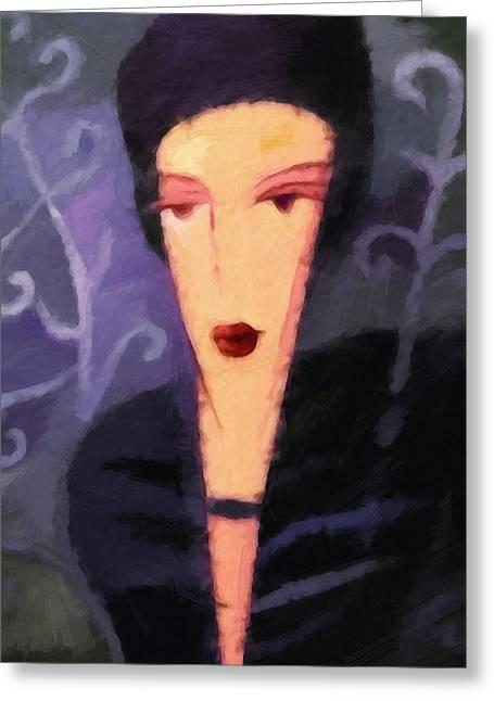 Olga Greeting Card by Lutz Baar