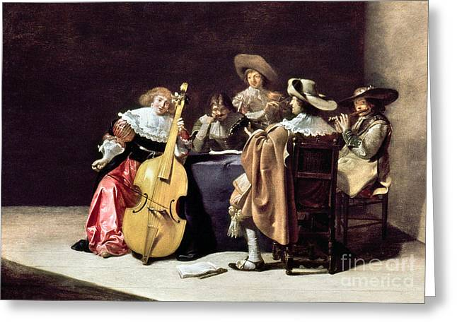 Cellist Greeting Cards - Olis: A Musical Party Greeting Card by Granger