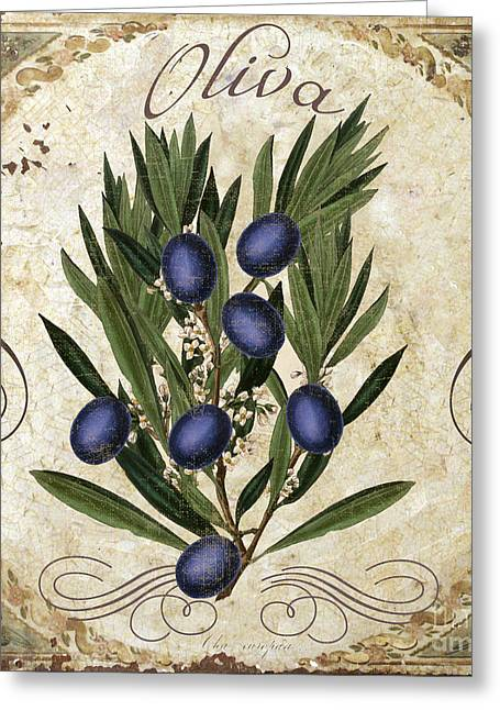 Italian Food Greeting Cards - Oliva Black Olives Greeting Card by Mindy Sommers
