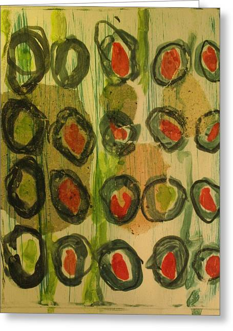 Eternal Life Mixed Media Greeting Cards - Olive Greeting Card by Charlie Spear