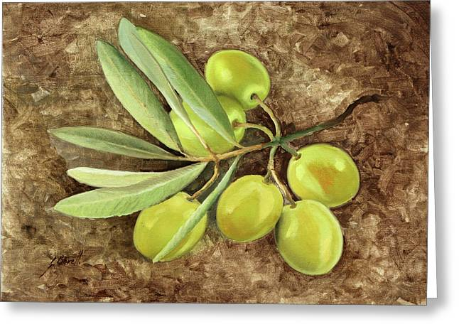 Olive Greeting Card by Guido Borelli