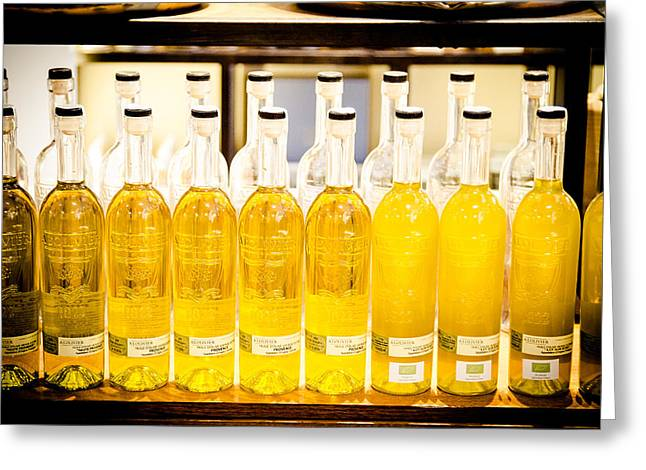 Grocery Store Greeting Cards - Olive Oil Greeting Card by Jason Smith