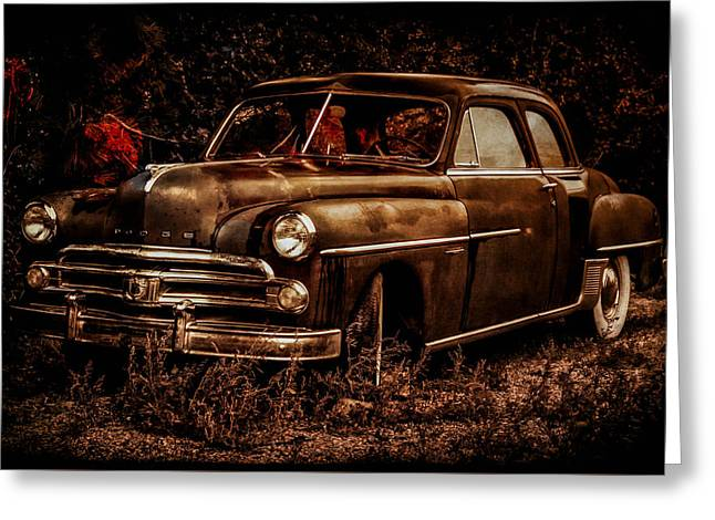 Rusted Cars Greeting Cards - Olive Oyl Greeting Card by Jeni Cook