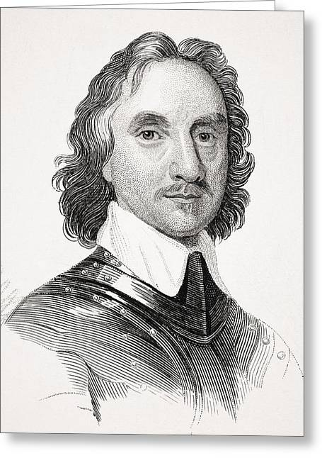 Cromwell Greeting Cards - Oliver Cromwell 1599 To1658 English Greeting Card by Ken Welsh