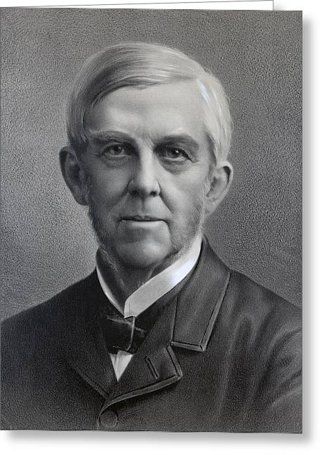Wendell Greeting Cards - Oliver Wendell Holmes, 1809 Greeting Card by Ken Welsh