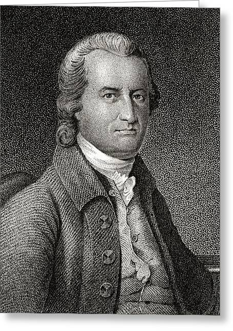 Oliver Wolcott 1726 To 1797 American Greeting Card by Vintage Design Pics