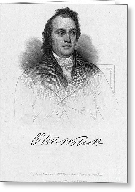 Recently Sold -  - 18th Century Greeting Cards - Oliver Wolcott Jr Greeting Card by Granger