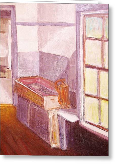 Olson House Greeting Cards - Olson house sink Greeting Card by Paul  Crimi
