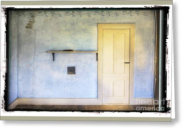 Olson House Greeting Cards - Olson White Door Greeting Card by Craig J Satterlee