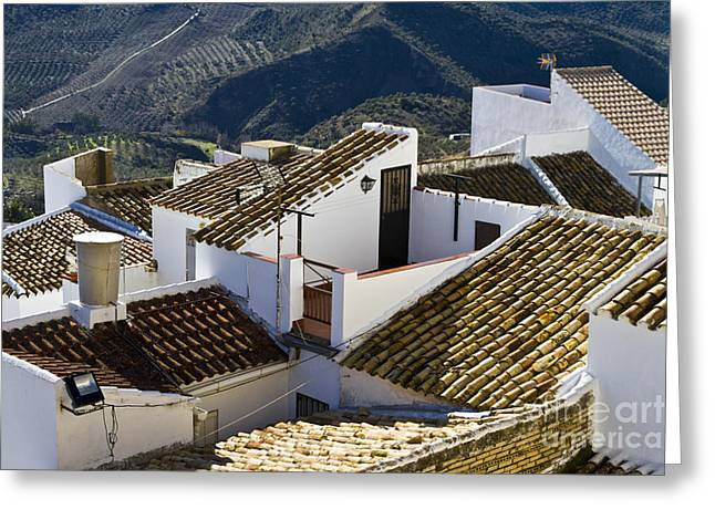 Pueblo Blanco Greeting Cards - Olvery Cityview Greeting Card by Heiko Koehrer-Wagner