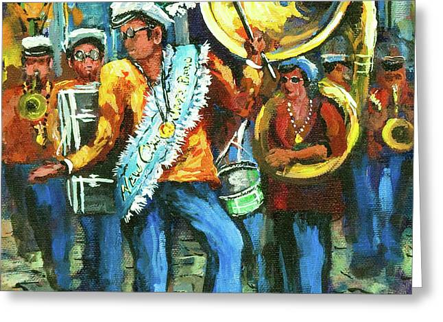Olympia Brass Band Greeting Card by Dianne Parks