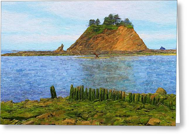 Olympic Coast First Beach Greeting Card by Dan Sproul
