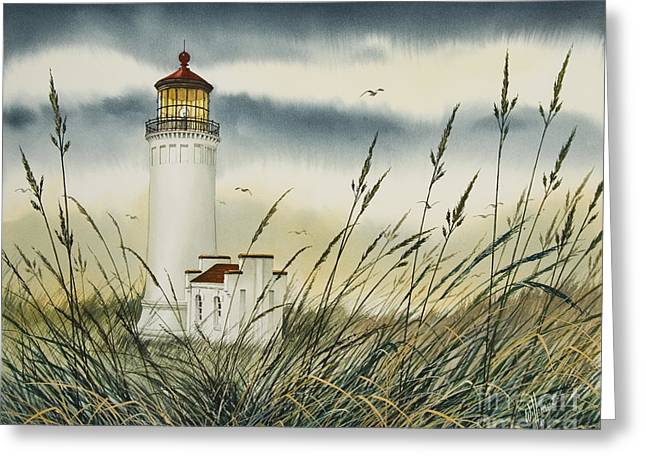 Landscape Framed Prints Greeting Cards - Olympic Coast Sentinel Greeting Card by James Williamson