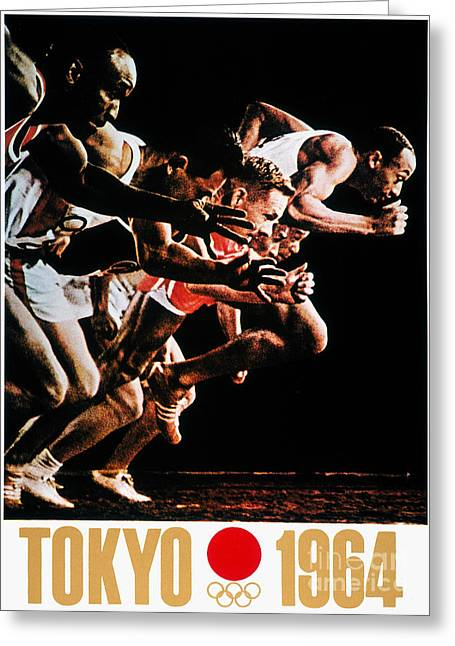 Footrace Greeting Cards - Olympic Games, 1964 Greeting Card by Granger