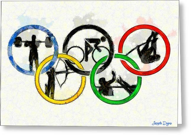 Olympic Games - Da Greeting Card by Leonardo Digenio