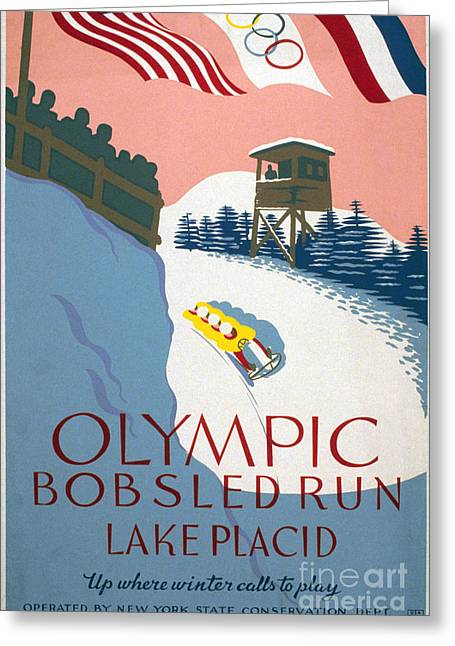 Works Progress Administration Greeting Cards - Olympic Games Poster Greeting Card by Granger