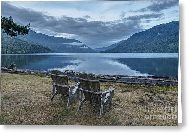 Craters Greeting Cards - Olympic  National Park. Crescent Lake Greeting Card by Rob Tilley