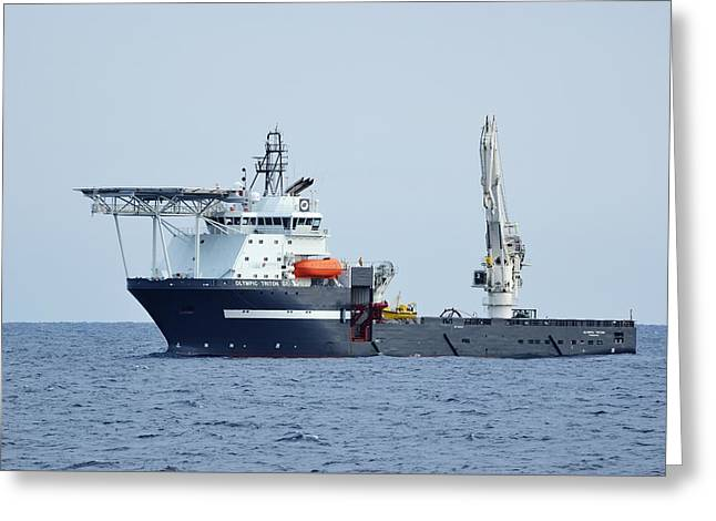 Recently Sold -  - Helix Greeting Cards - Olympic Triton Support Vessel Greeting Card by Bradford Martin