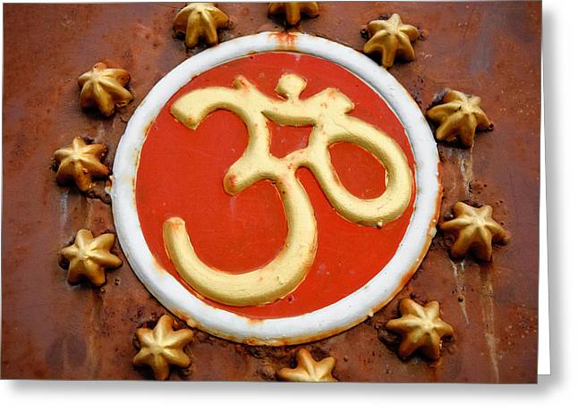 Om Greeting Card by Dev Gogoi