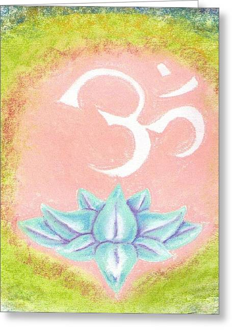Burst Pastels Greeting Cards - Om Greeting Card by Garrett Wright
