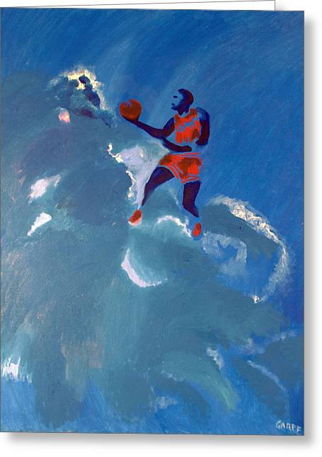 Omaggio A Michael Jordan Greeting Card by Enrico Garff