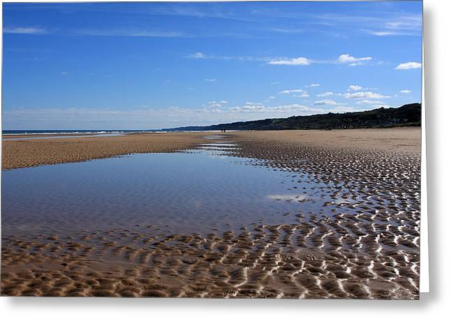 Omaha Beach, Normandy, France. Greeting Card by Aidan Moran