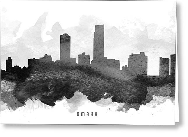 Omaha Greeting Cards - Omaha Cityscape 11 Greeting Card by Aged Pixel