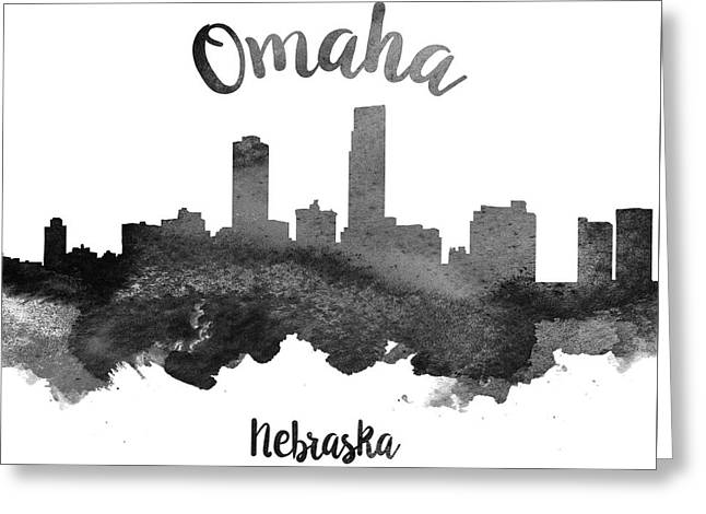 Omaha Greeting Cards - Omaha Nebraska Skyline 18 Greeting Card by Aged Pixel