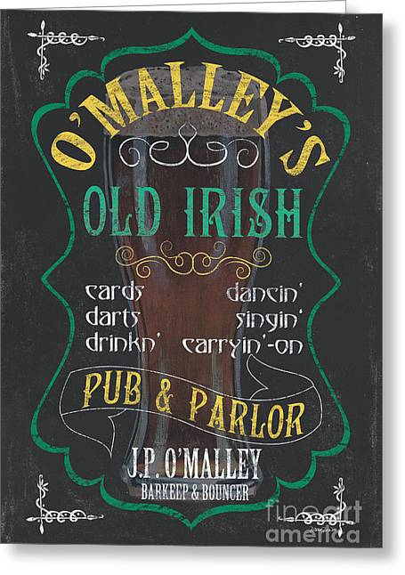 Hops Greeting Cards - OMalleys Old Irish Pub Greeting Card by Debbie DeWitt
