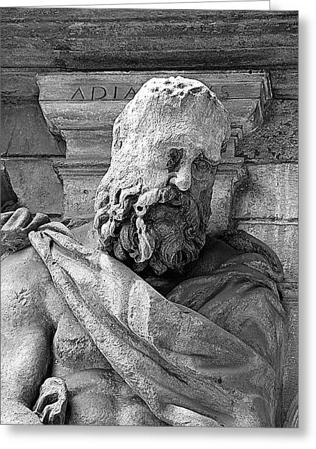 Historic Statue Greeting Cards - Omenoni Two Greeting Card by Valentino Visentini