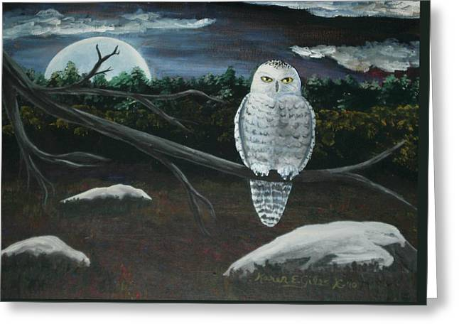 Omens of Change Greeting Card by Karen Giles