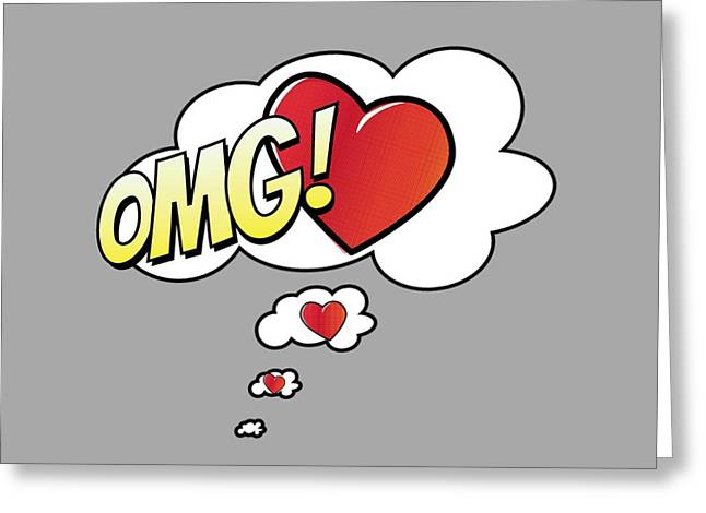 Omg Greeting Cards - OMG in Love Greeting Card by Marianna Mills