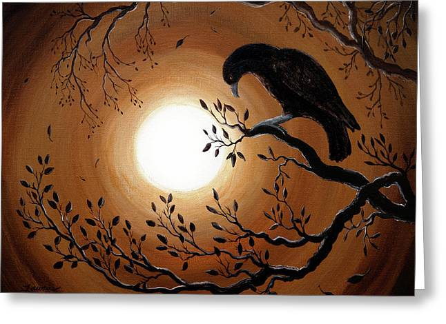 Blackbirds Greeting Cards - Ominous Bird of Yore Greeting Card by Laura Iverson