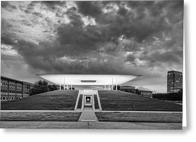 Medical Greeting Cards - Ominous Clouds Over the James Turrell Skyscape  Twilight Epiphany - Rice University Houston Texas Greeting Card by Silvio Ligutti