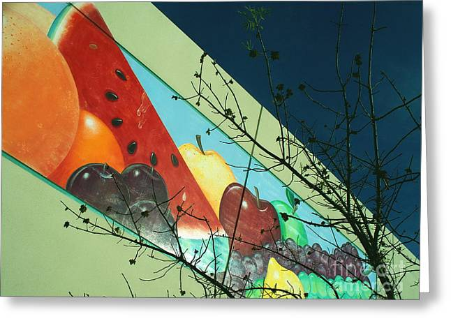Ominous Fruit Greeting Card by Chuck Taylor