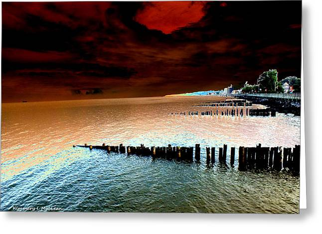 Beach Photography Greeting Cards - Ominous Greeting Card by Kimmary I MacLean