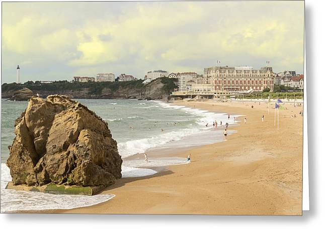 On A Hot Summer Day On A Sandy Beach Greeting Card by George Westermak