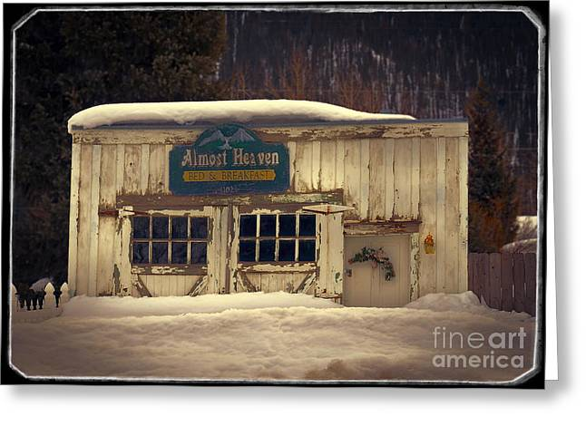 Charming Cottage Digital Art Greeting Cards - On A Winters Day Greeting Card by Janice Rae Pariza
