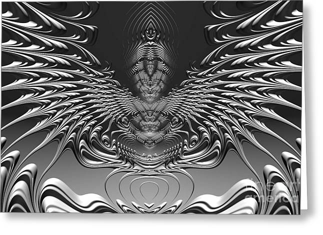 Winged Digital Greeting Cards - On Alien Wings Greeting Card by John Edwards