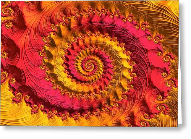 Geometrical Art Greeting Cards - On Being Bold and Beautiful Greeting Card by Susan Maxwell Schmidt