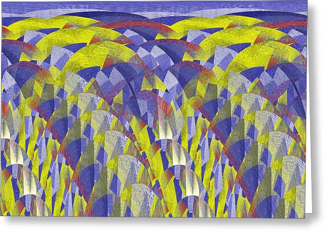 Abstract Blueberries Greeting Cards - On Blueberry Hill Greeting Card by Tim Allen