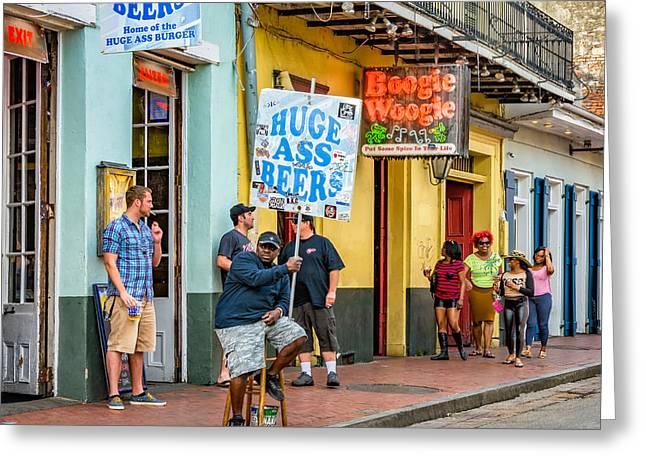 On Bourbon Street 2 Greeting Card by Steve Harrington