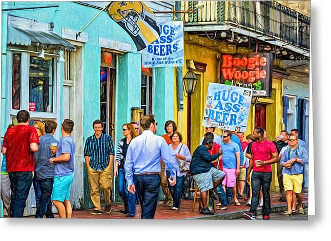 On Bourbon Street - Paint Greeting Card by Steve Harrington