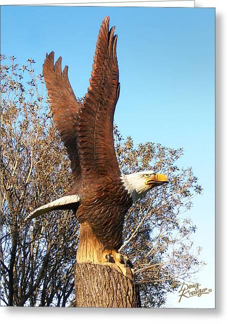 On Eagles Wings II Greeting Card by Doug Kreuger