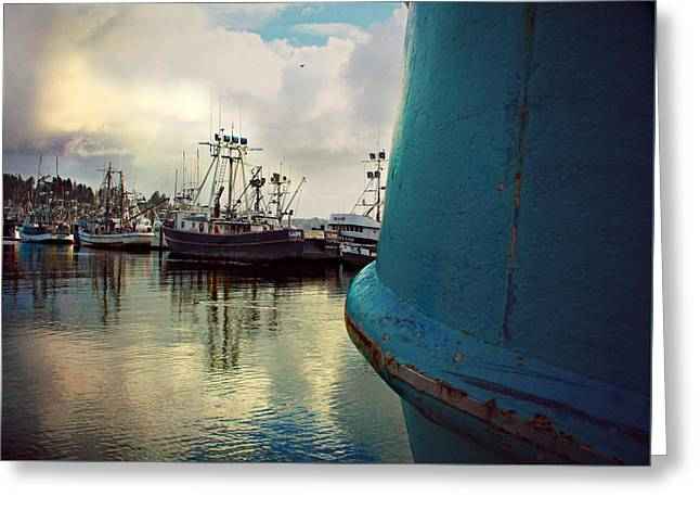 Docked Boat Greeting Cards - On Embarking We Return Greeting Card by CJ Anderson