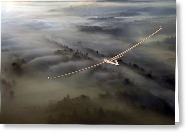 Flying Greeting Cards - On Final Greeting Card by Matjaz Cater