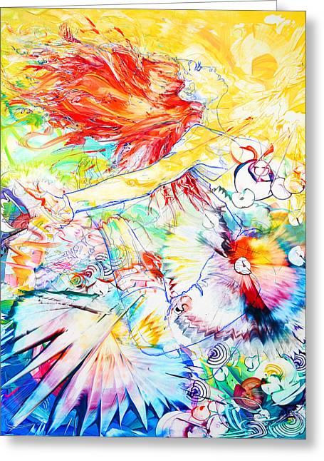 Recently Sold -  - Dancing Girl Greeting Cards - On Fire Greeting Card by Susan Card