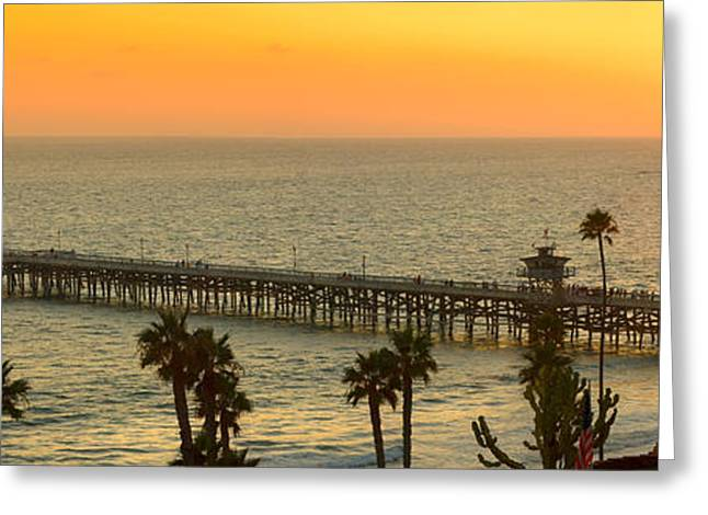 On Golden Pier Greeting Card by Gary Zuercher