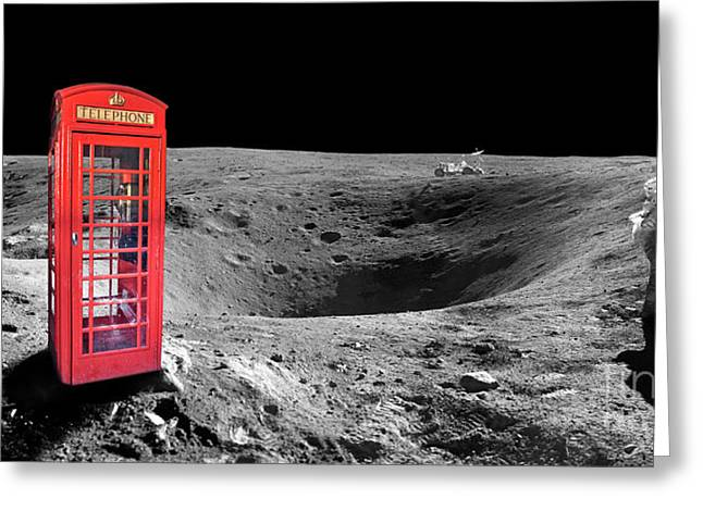 On Moon Greeting Card by Delphimages Photo Creations